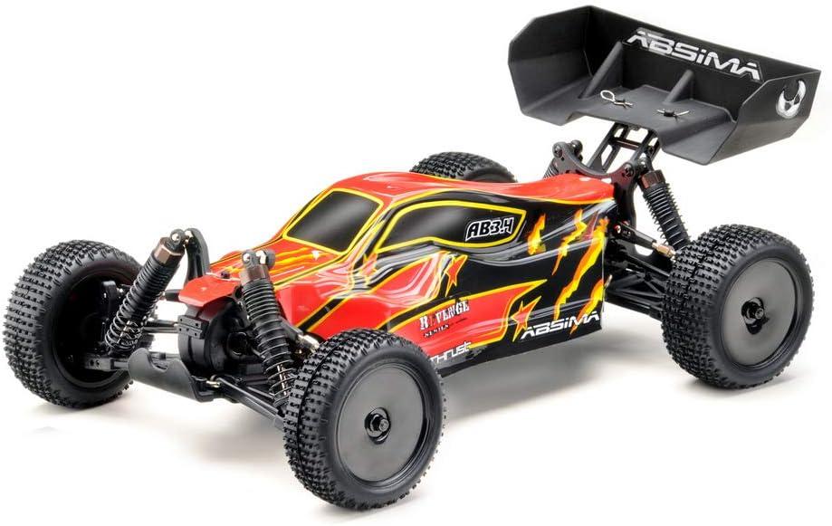 Absima Hot Shot 12222 Absima 1 10 Rc Modellauto Ab3 4 Buggy Mit Brushed Elektroantrieb 2 4 Ghz Fernsteuerung Und Allradantrieb Rtr Rot Schwarz Spielzeug