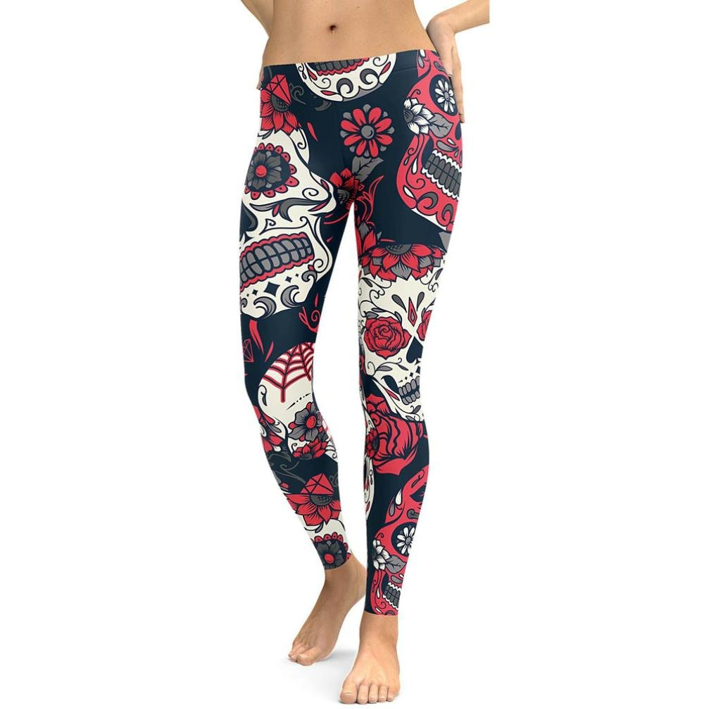 FNKDOR Fashion Women Slim Print High Waist Leisure Sport Close-Fitting Breathable Gym Yoga Running Fitness Leggings Pants Workout Clothes