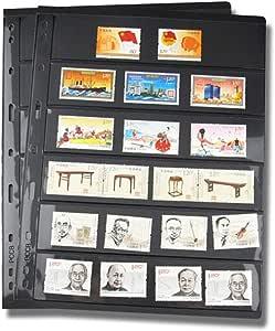 CVERY 10 páginas de Sellos para álbum de Hojas, Hojas Sueltas de PVC, Soportes de Sellos para Papel, Dinero, Fotos, colector, no Incluye Funda, Show, f: Amazon.es: Hogar