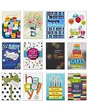 Hallmark Assorted Birthday Greeting Cards (12 Cards and Envelopes) (5STZ5016)