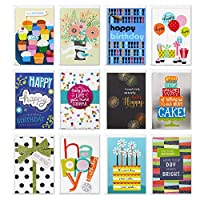 Hallmark Assorted Birthday Greeting Cards (12 Cards and Envelopes)