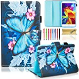 samsung galaxy 4 tablet 7 inch - T230 Case, Tab 4 7.0 Case, Dteck(TM) Fashion Art Print Slim PU Leather Stand Case with Card Slots Magnetic Closure Protective Case for Samsung Galaxy Tab 4 7.0