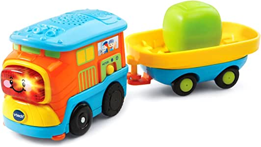 VTech Go! Go! Smart Wheels Motorized Freight Train with Cargo Car