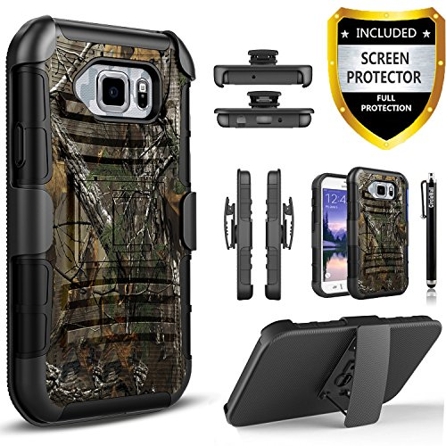Galaxy S7 Active Case, [Not Fit Galaxy S7] Circlemalls Dual Layers [Combo Holster] And Built-In Kickstand Bundled With [Premium Screen Protector] Hybird Shockproof And Stylus Pen For Samsung Galaxy S7 (Best Galaxy S7 Active Case)