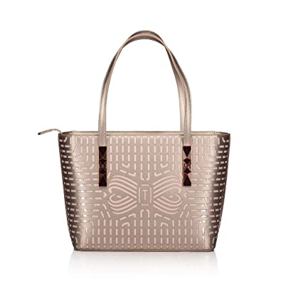 276104a4fabb35 TED BAKER BREEANA CUT OUT BOW SHOPPER ROSE GOLD  Amazon.co.uk  Shoes   Bags