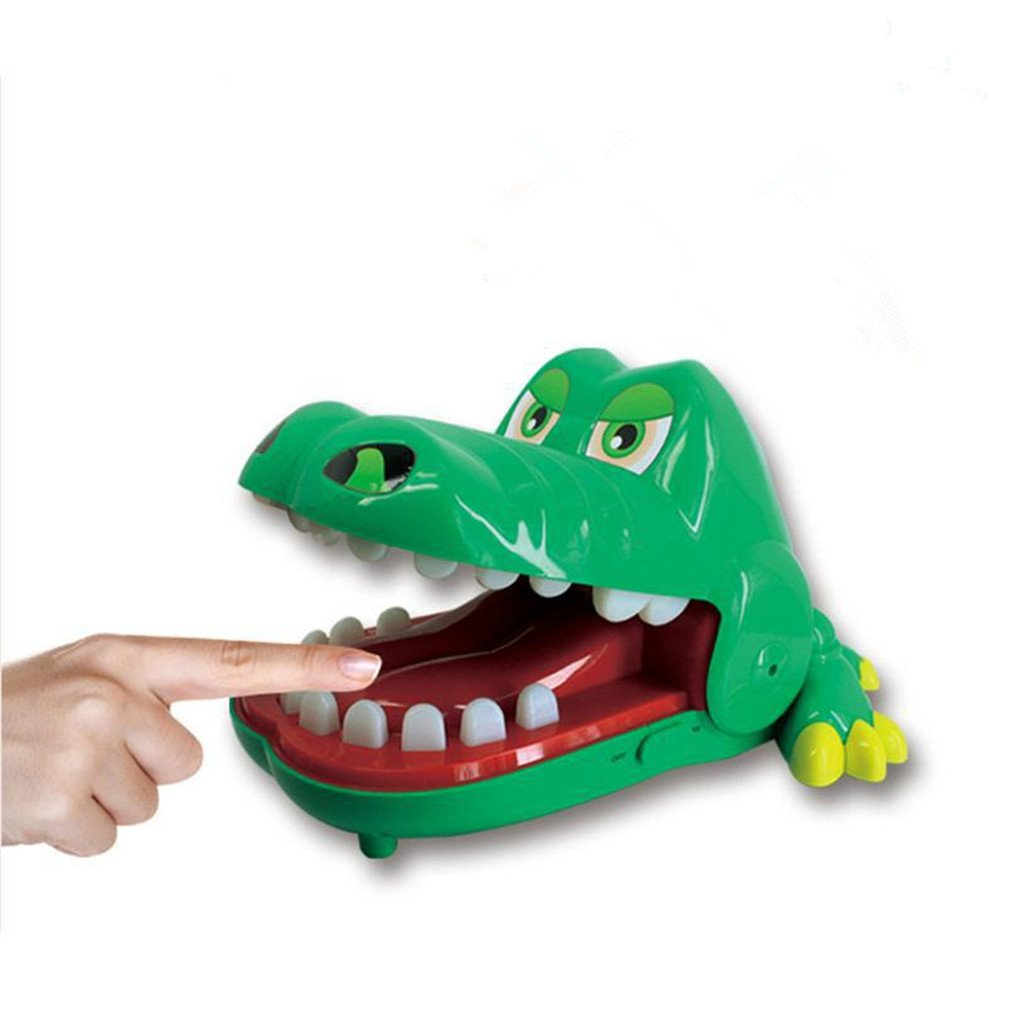 WHYQZ Multi-function Crocodile Mouth Tooth Children's Toys Family Party Table Games Classic Crocodile Biting Hand Game Large Size