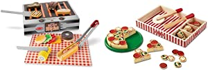 Melissa & Doug Grill & Serve BBQ Set & Pizza Party