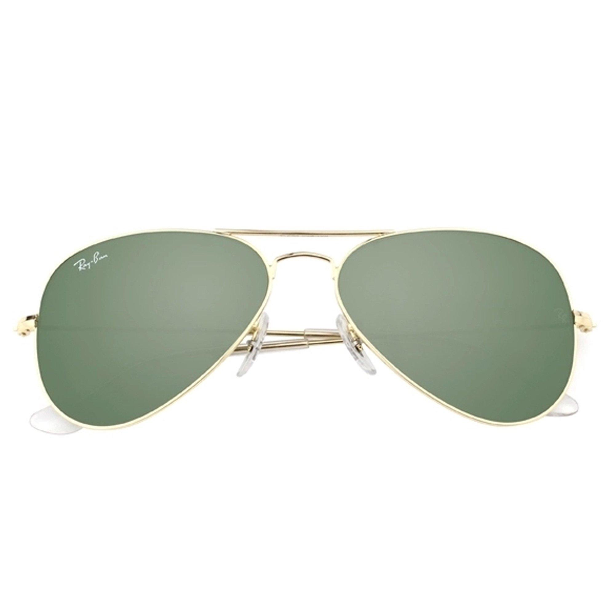 22588651dd Ray-Ban Men s Aviator 3025 Sunglasses Gold Frame Green G-15xlt Lens- 55mm -  RB3025-W3234   Fishing Apparel   Sports   Outdoors - tibs