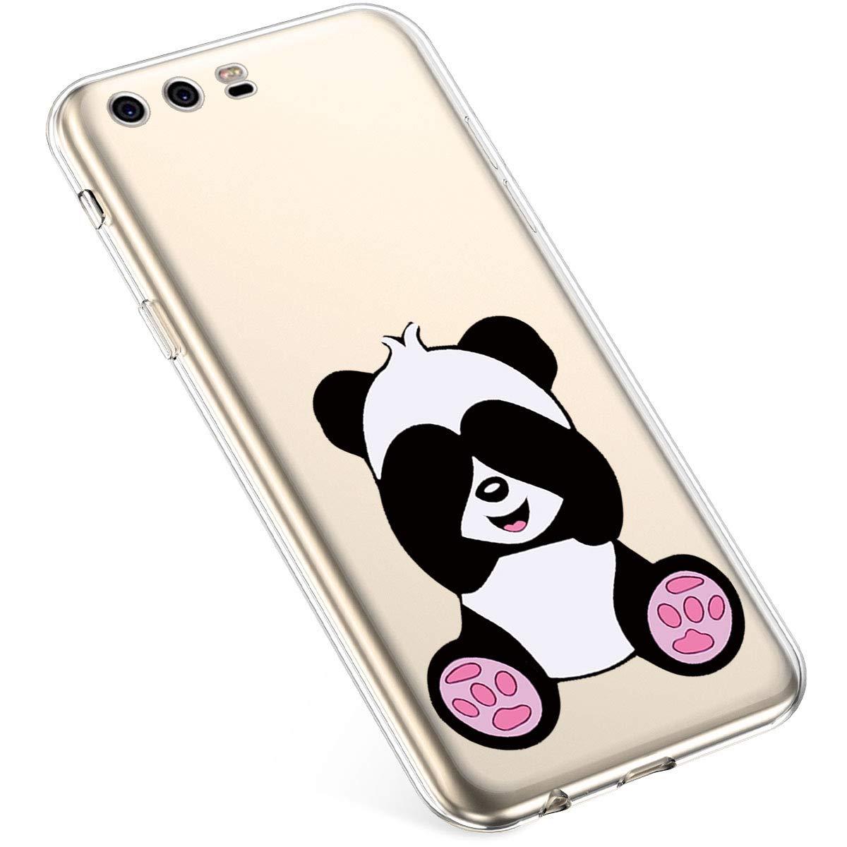 Felfy Kompatibel mit Huawei P10 Plus H/ülle,Kompatibel mit Huawei P10 Plus Handyh/ülle Transparent Silikon Schutzh/ülle Elegant Muster D/ünn Weich Klar Silikonh/ülle Sto/ßfest Schlank Cover Case H/üllen