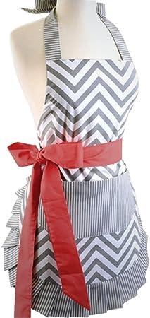 Lerben Fashion cocinar hornear cocina delantales falda con ...