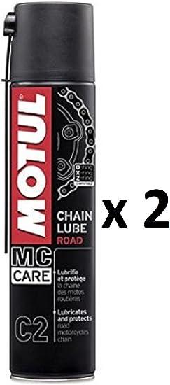 Fett Spray Schmiermittel Kette Motul Chain Lube Politur Road Mc Care C2 2 Spraydosen 400 Ml Auto