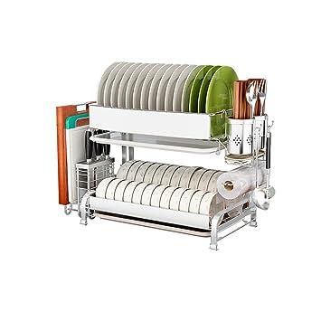 Estante De Almacenamiento De Cocina Moldura De Pared Vajilla Multifuncional Rack De Partición De 2 Capas (Tamaño : M(44cm)): Amazon.es: Hogar