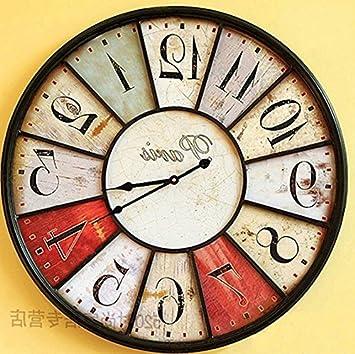 Y-Hui Le Jardin Méditerranéen Salon rétro Art Déco Fer Horloge ...
