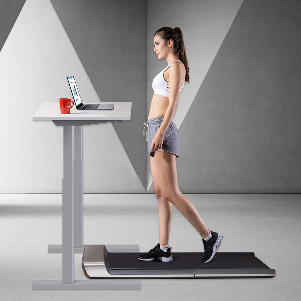 No Noise /& Comfortable Fitness Equipment Walking Pad A1 Treadmill Smart Foldable Walking Machine with Remote Control Two Modes of Operation