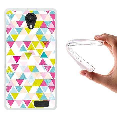 WoowCase Funda Energy Phone MAX 4G, [Energy Phone MAX 4G ] Funda Silicona Gel Flexible Forma Geometrica Triangulos, Carcasa Case TPU Silicona - ...