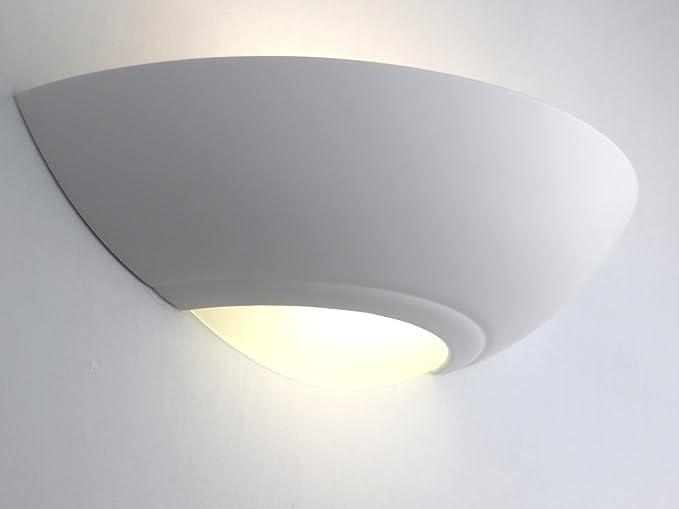 Applique in gesso verniciabile lampada da parete moderno