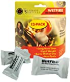 Wetfire Fire Starting Tinder Long Burn Time, Non-Toxic, Burns Wet or Dry Fire Starter - 24 Packets
