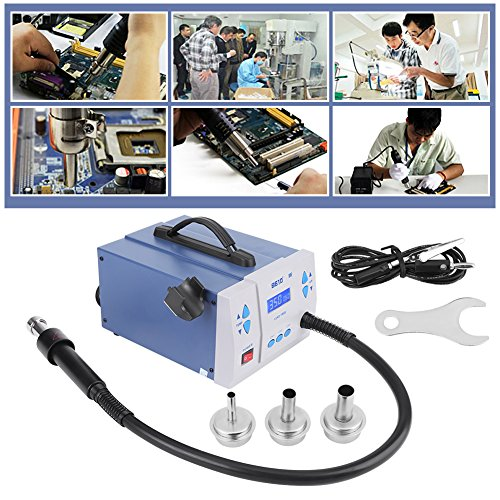 - Quick Digital Soldering Rework Station, 1000W Hot Air Heat Gun Station Solder Iron Welder with LCD display screen & 3 Nozzles US Plug