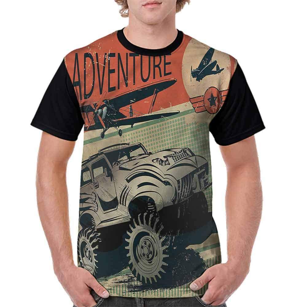 BlountDecor Fashion T-Shirt,Retro Grungy Sketch Fashion Personality Customization