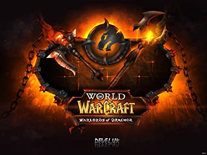 Wow World Of Warcraft Warlords Of Draenor Fire Logo Game Fan Art 24x18 Poster Print