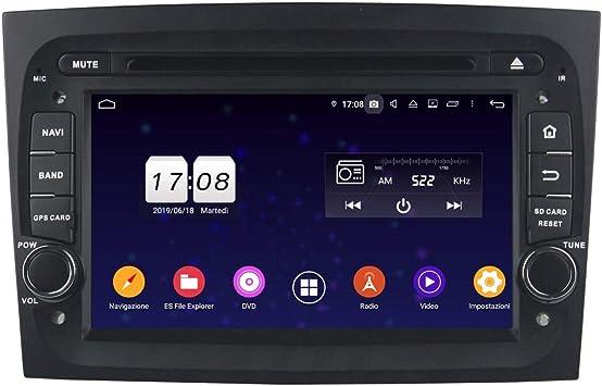 Android 9.0 - Navegador GPS para Coche para Fiat Doblo (2016-2019), Pantalla táctil de 7 Pulgadas, Reproductor de DVD, Radio Bluetooth: Amazon.es: Electrónica