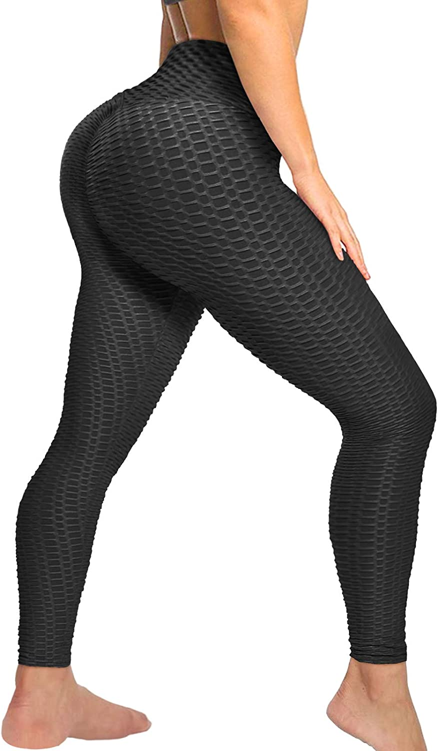Women Anti Cellulite Leggings Booty Lifting High Waist Yoga Pants Ruched Workout