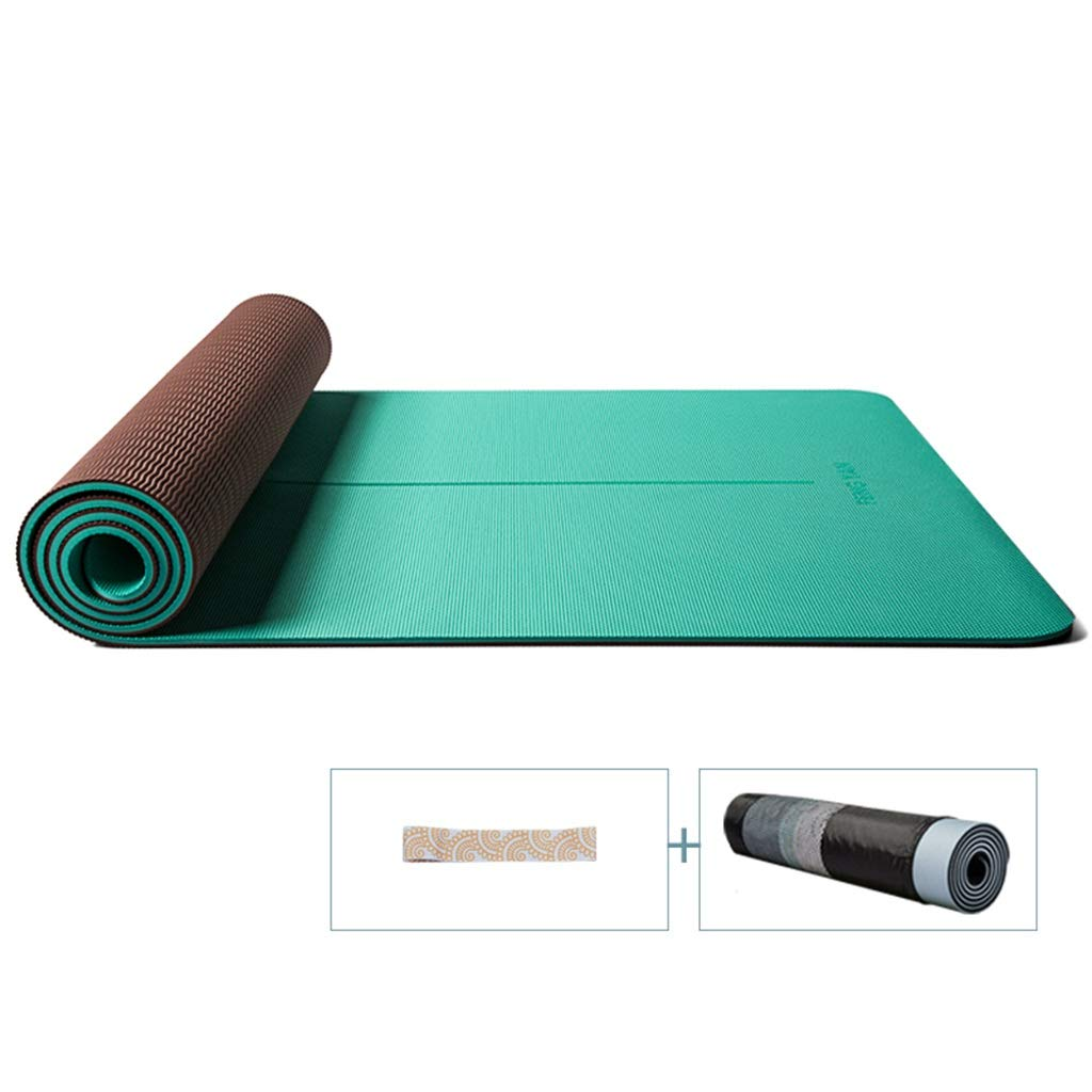 F WZLDP Tapis de Yoga épaississement Long Tapis de Remise en Forme antidérapant pour débutant Léger, pour Hommes et Femmes. 18306608mm