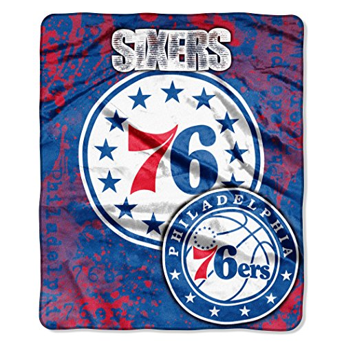 The Northwest Company Officially Licensed NBA Philadelphia 76ers Dropdown Plush Raschel Throw Blanket, 50