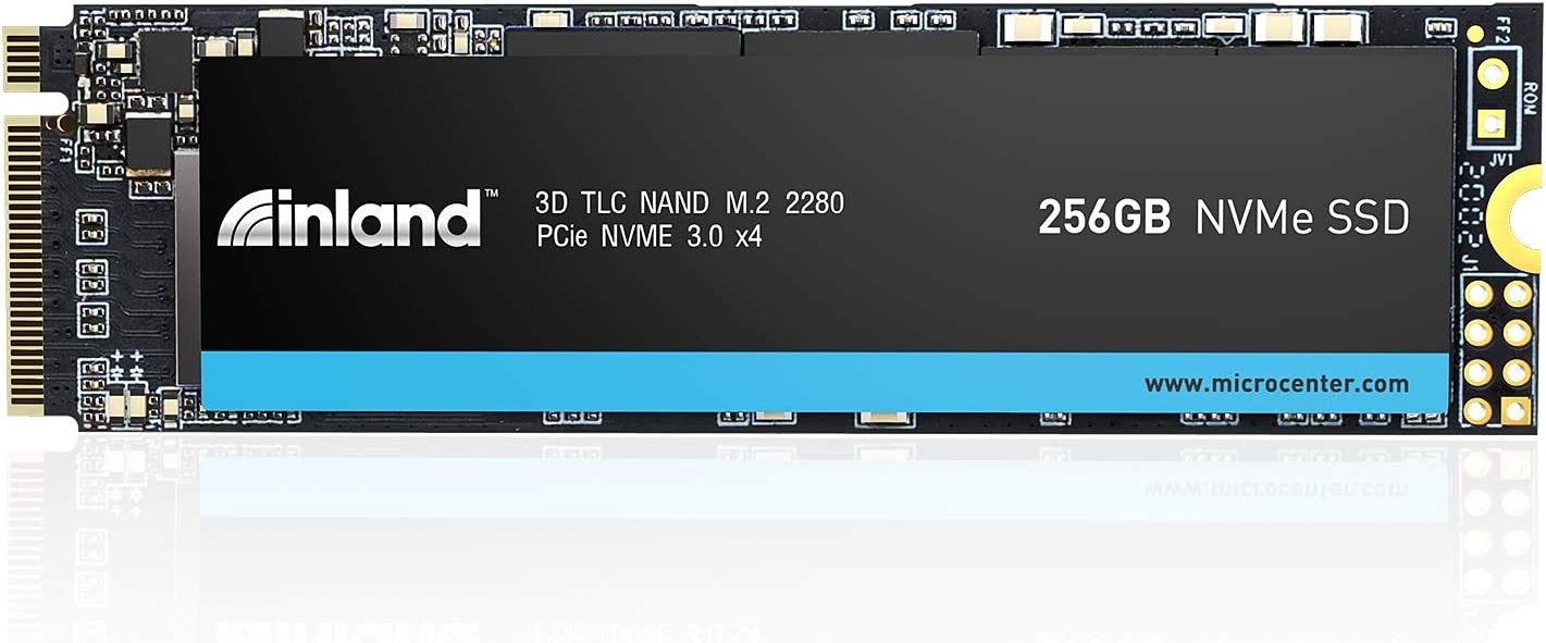 Inland Professional 256GB NVMe SSD M.2 2280 PCIe Gen 3.0x4 3D TLC NAND Internal Solid State Drive, PCIe Express 3.1 and NVMe 1.3 Compatible (256GB)