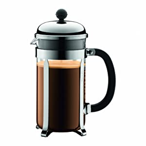 Bodum Chambord 8 cup French Press Coffee Maker, 34 oz, Chome