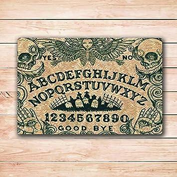 Ouija Board Arte Felpudo Alfombra 18 x 30 Inchs
