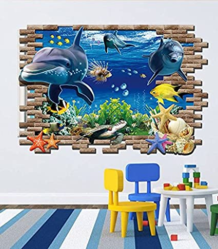 Syga Underwater World 3D Removable Wall Stickers Decals Design