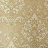 Luxury Decorative Pattern Dark Gold Wallpaper (20.5 inches Wide)