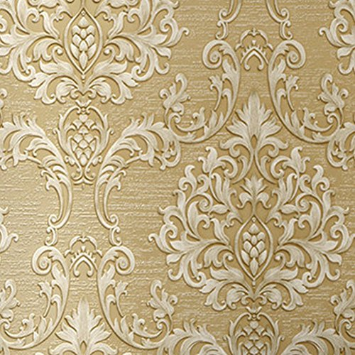 Luxury Decorative Pattern Dark Gold Wallpaper (20.5 inches Wide) by Wallpaper