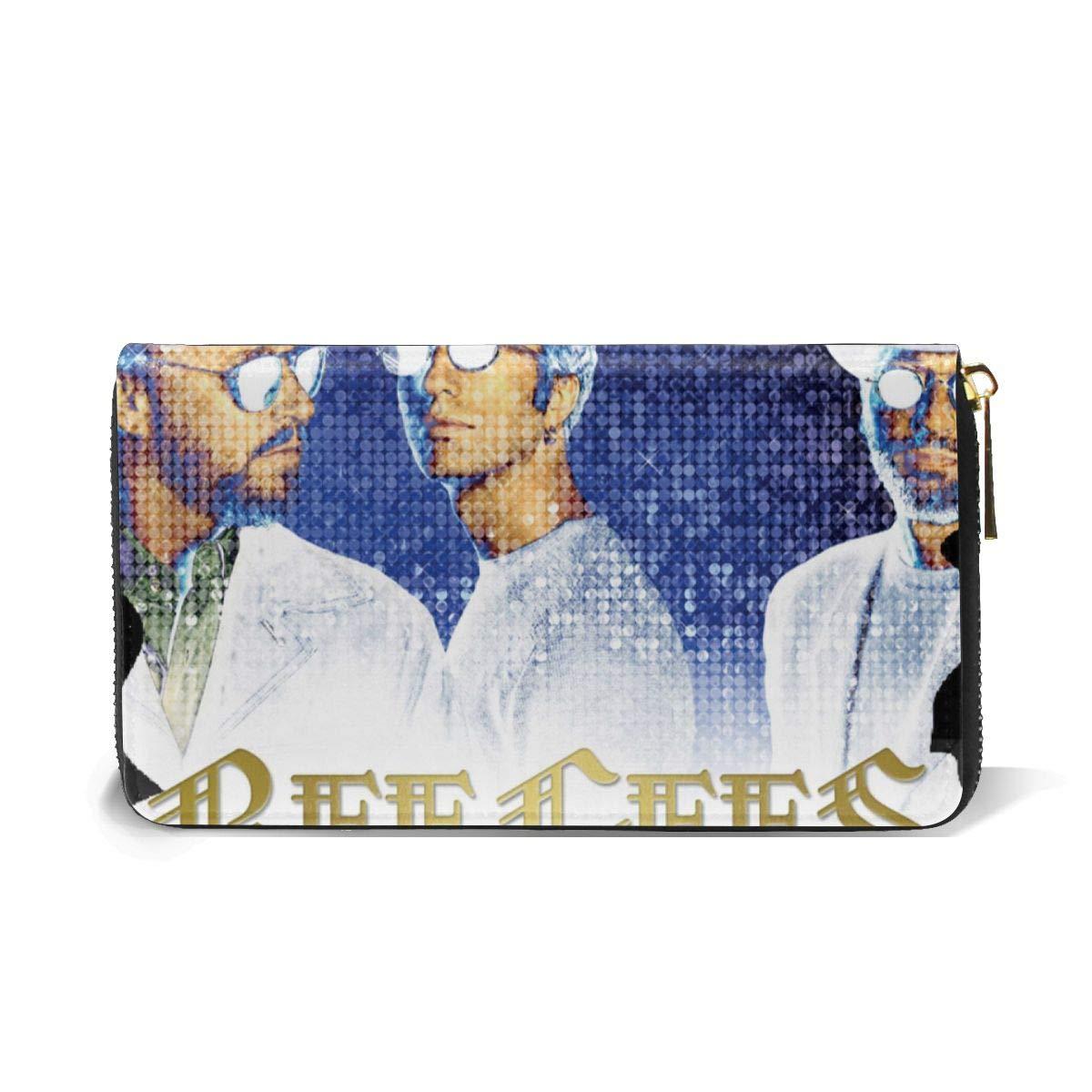 XJLGGMHDS Bee Gees Unisex Wallet Zipper Closure Card Slots Zippered Coin Pouch