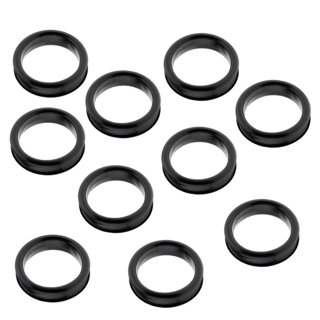 MagiDeal 10pcs Gummi Fingerring Inserts, Fingerring Einsätze für Haarschere Friseurschere - Weiß non-brand