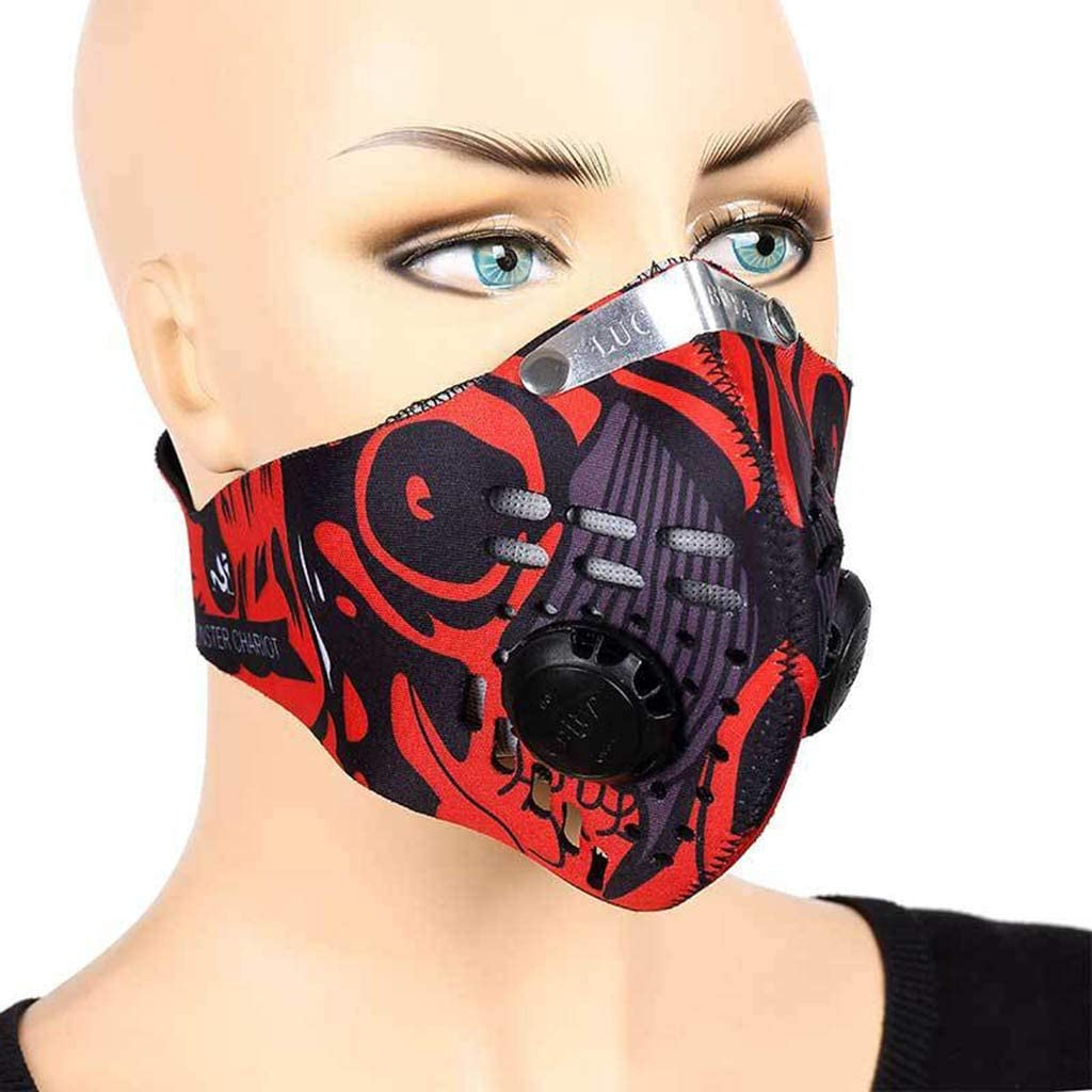 Reasoncool PM2.5 Atmungsaktive Mund Unisex Gesichts Schutz Wiederverwendbare Bandana H/ängendes Ohr Atmungsaktiv Sonnenschutz