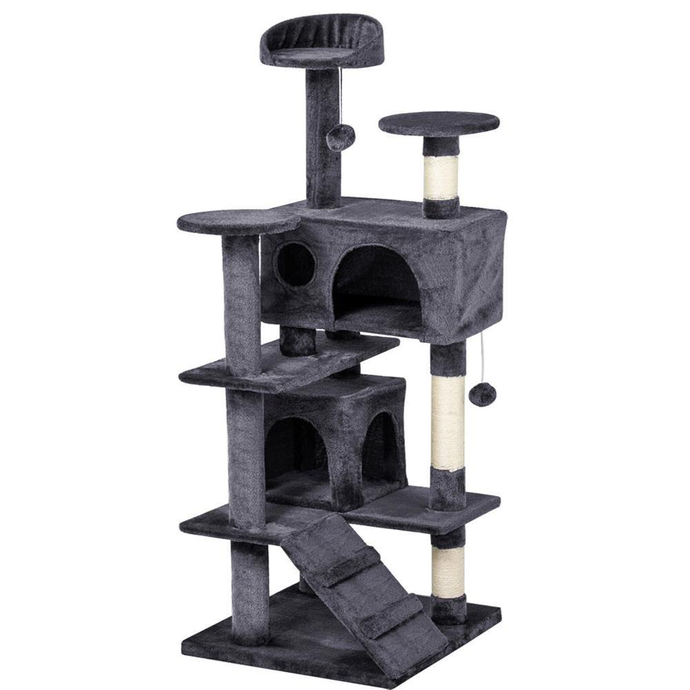 Yaheetech 53.5'' Multi-Level Cat Tree Scratcher Condo Tower with Scratching Post and Toys