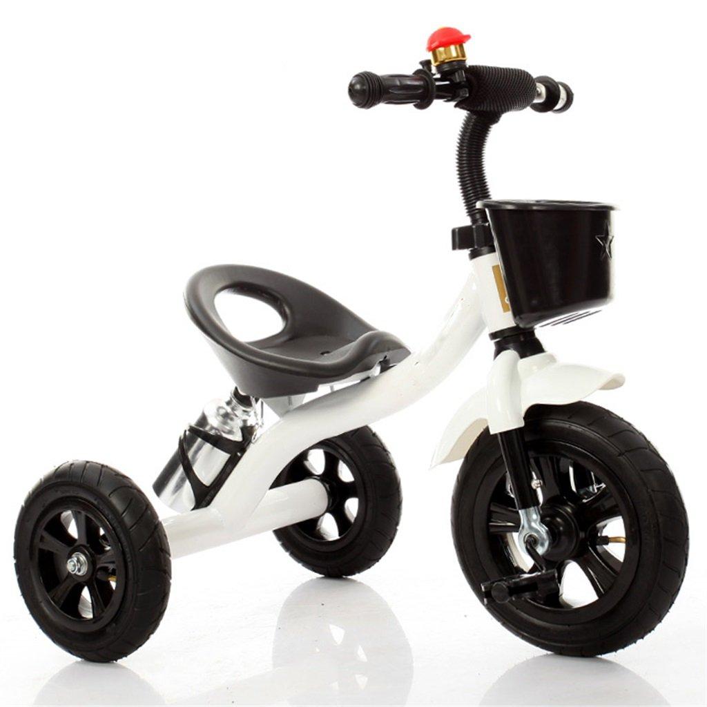 Babywagen Dreirad-Baby-Wagen-Fahrrad-Kind-Spielzeug-Auto Aufblasbares Rad   Schaum-Rad-Fahrrad Verwendbar für 1-2-3-4 Jährige (Junge   Mädchen), Weiß FAHRRAD