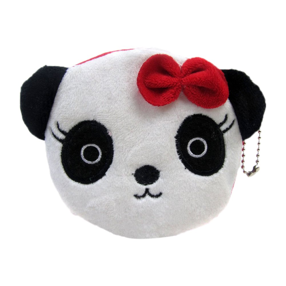 Monbedos Panda Coin Purse Purse Pouch Bag Women Wallet Coin Bag for Coin,Credit Card,Keys,Headset,Lipstick,Card,Lipstick