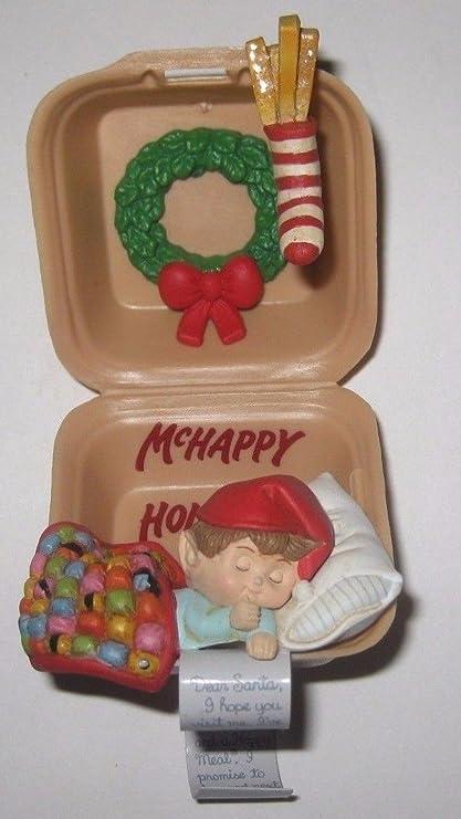 "Vintage MCDONALDS HAPPY MEAL CHRISTMAS Ornament (1990/McHappy  Holidays"") - Amazon.com: Vintage MCDONALDS HAPPY MEAL CHRISTMAS Ornament (1990"