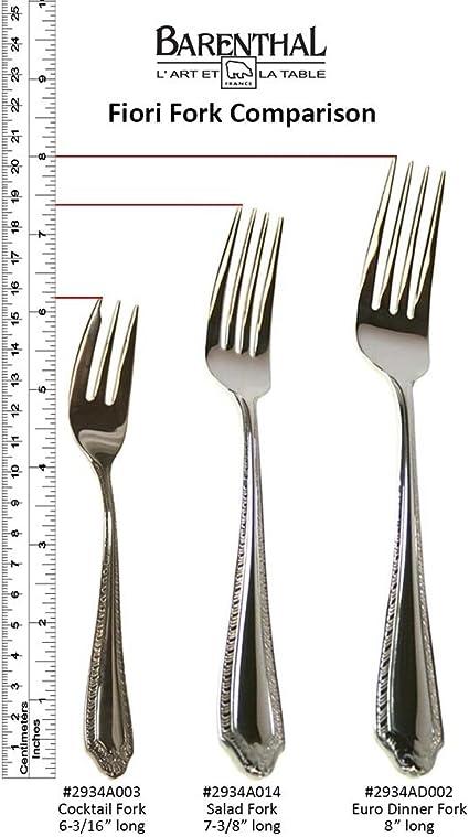 Fiori 10 Euro.Amazon Com Fiori Pattern Stainless Steel Euro Salad Dessert Fork