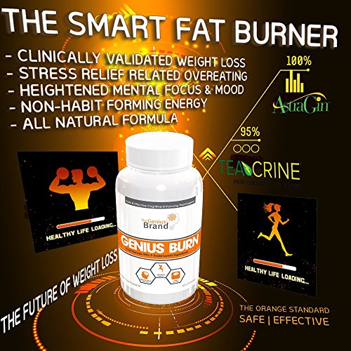 Genius-Burn--2-In-1-Focus-Enhancing-Thermogenic-Fat-Burner-Caffeine-Free-Nootropic-Weight-Loss-Supplement-Natural-Energy-Memory-and-Brain-Boost-with-9-Clinically-Validated-Ingredients-60-V-Caps