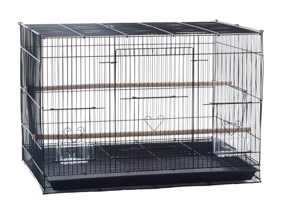 Mcage Lot of 6 Aviary Breeding Bird Finch Parakeet Finch Flight Cage 24'' x 16'' x 16''H (Black) by Mcage
