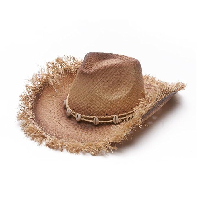 Sombreros De Vaquero De Paja Mujeres Hombres Rafi Verano Sombreros Panamá  De Playa Sombrero Para El Sol cf8448e810e