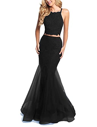 Lily Wedding Womens Sexy 2 Piece Mermaid Prom Dresses 2018 Long Formal Evening Ball Gowns D110