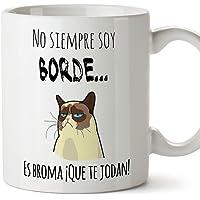 Taza graciosa - No siempre soy borde, es broma - 350 ml - Tazas con frases de humor sarcástico
