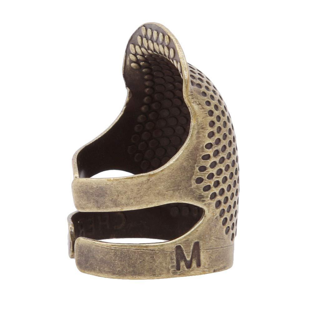 groß groß LnLyin Vintage Nähen Quilten Fingerhut Nähen Schneider Fingerschutz Fingerhüte Schild Pin Handarbeit DIY Handwerk Werkzeuge