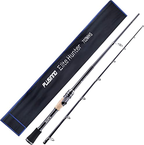 PLUSINNO Elite Hunter 7FT Fishing Rod, IM 6 Graphite Spinning Rod and Casting Rod, Stainless Steel Guides with SiC Inserts