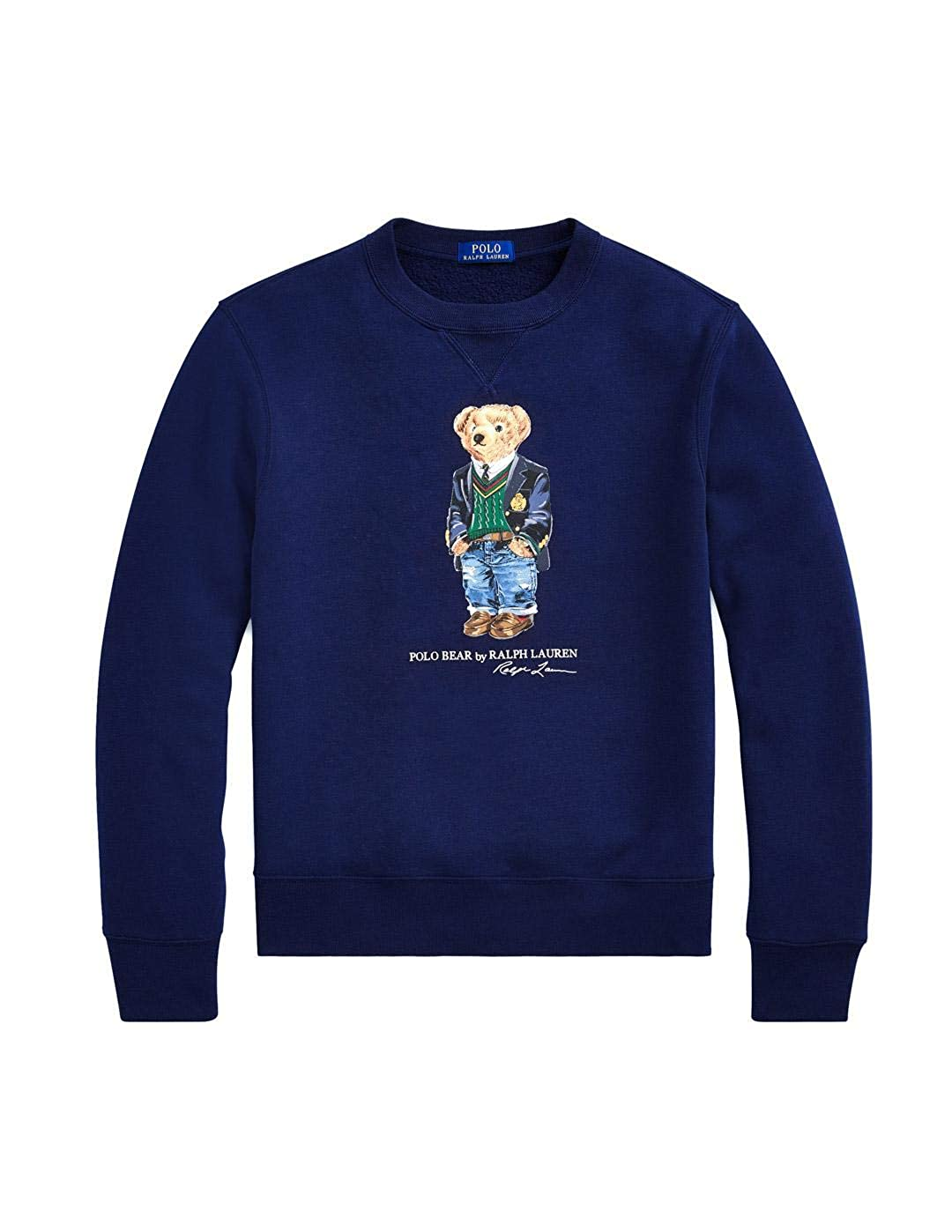 Felpa Ralph Lauren Polo Bear Preppy Marino Hombre XL Azul: Amazon ...